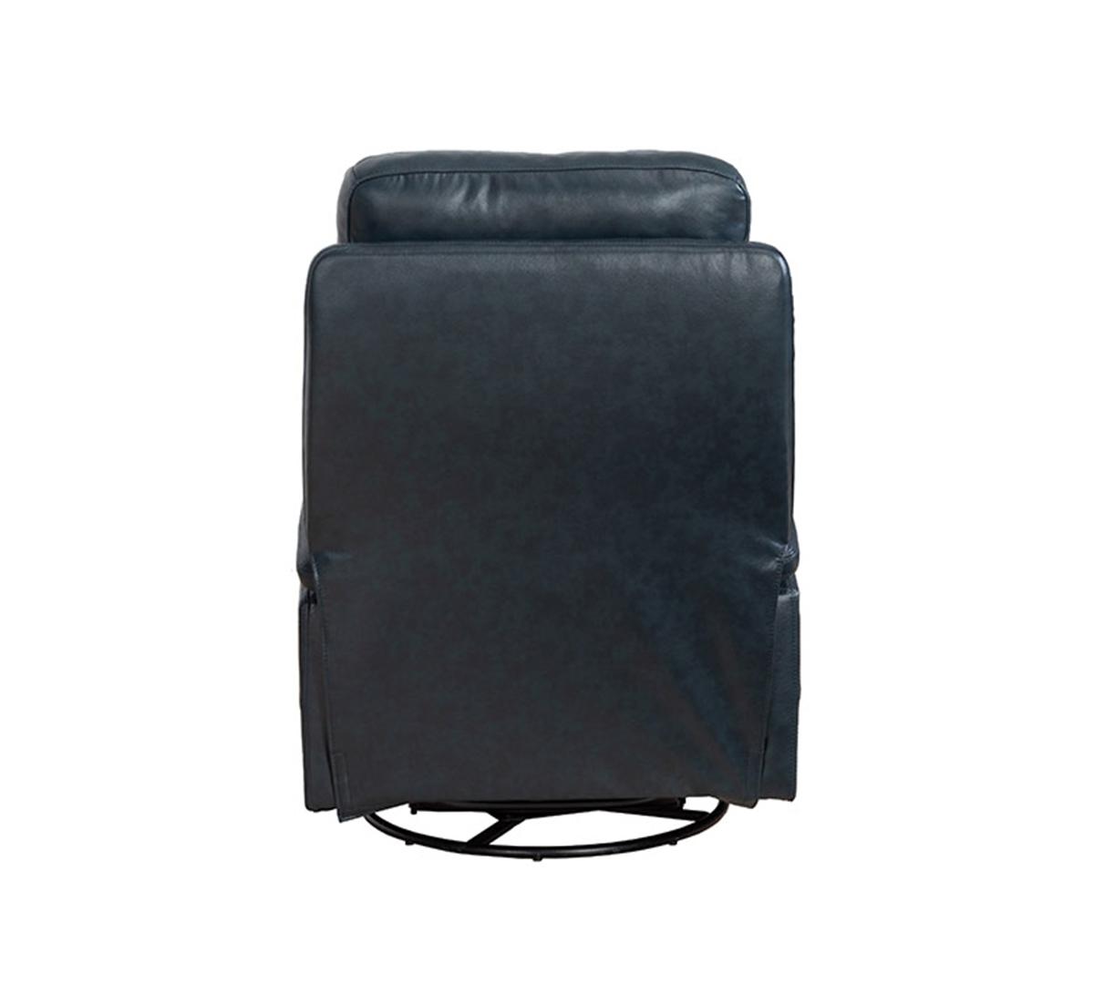 Barcalounger Duffy Swivel Glider Recliner Chair - Ryegate Sapphire Blue/Leather Match