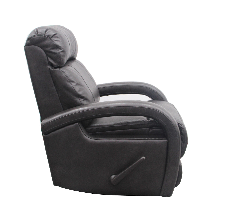 Barcalounger Harvey Swivel Glider Recliner Chair - Wrenn Gray/All Leather