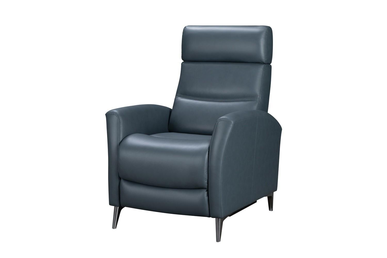Barcalounger Zane Power Recliner Chair - Masen Bluegray/Leather Match
