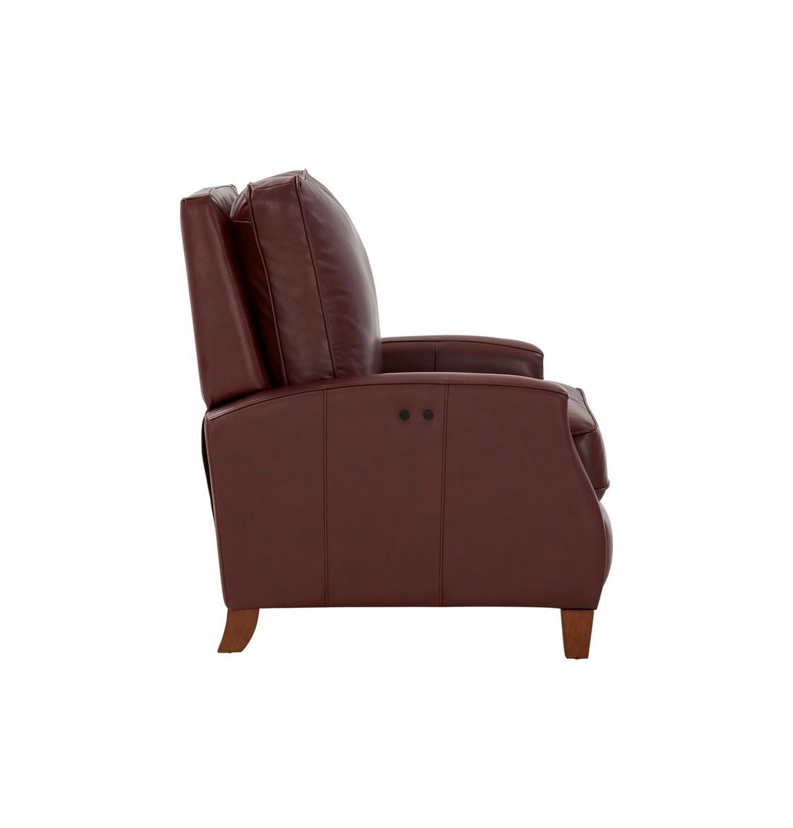 Barcalounger Penrose Power Recliner Chair - Shoreham Wine/All Leather