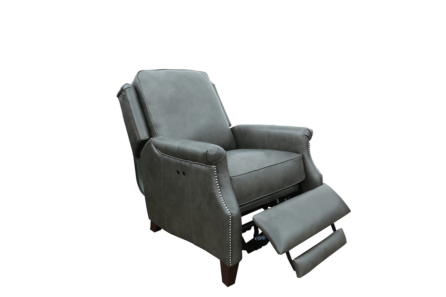 Barcalounger Riley Power Recliner Chair - Ashford Graphite/All Leather