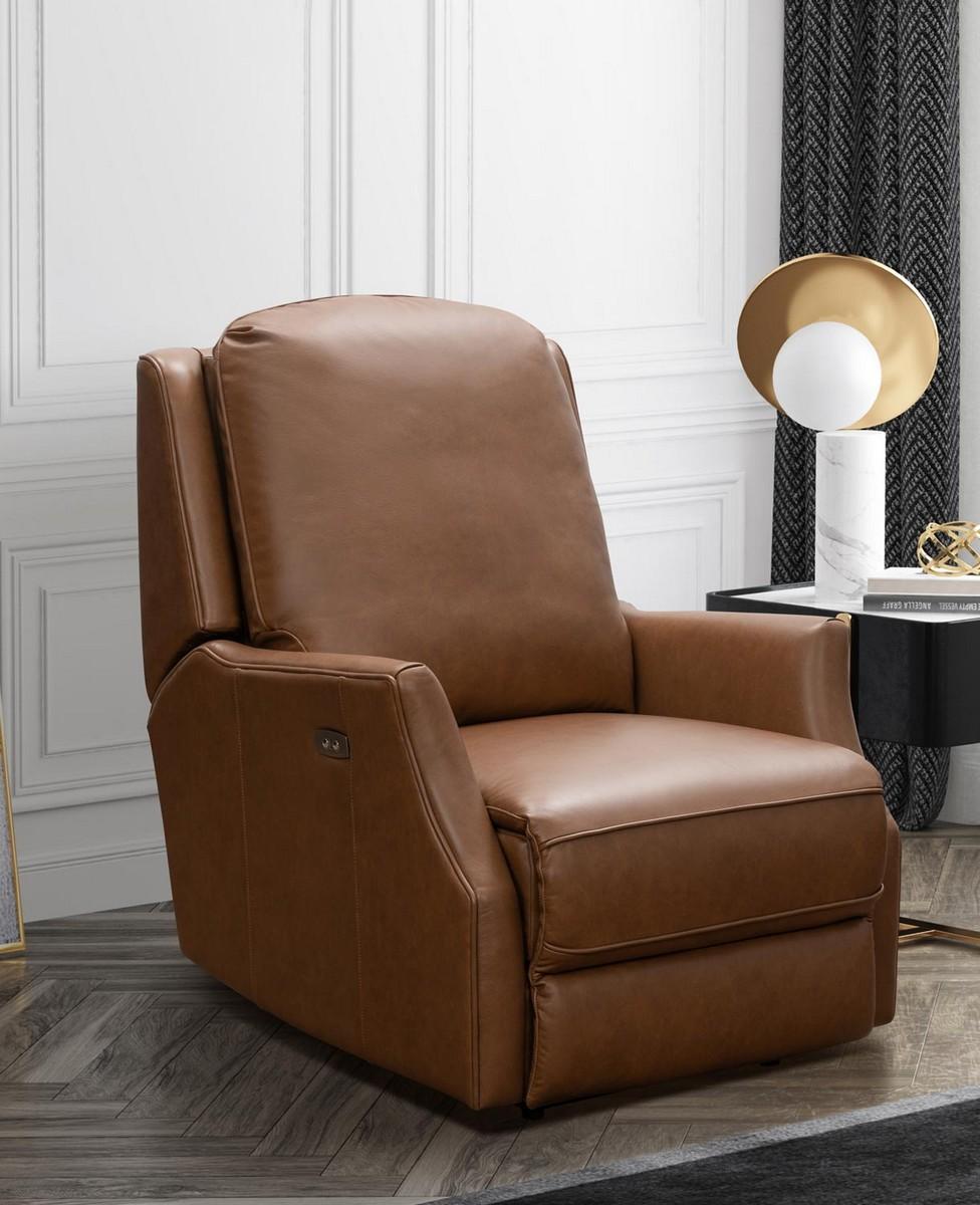 Barcalounger Springfield Power Recliner Chair - Bennington Saddle/All Leather