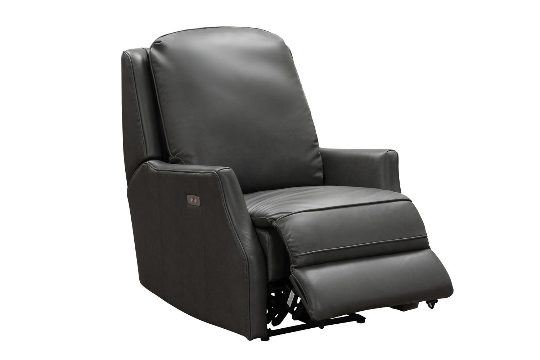 Barcalounger Springfield Power Recliner Chair - Bennington Gunmetal/All Leather