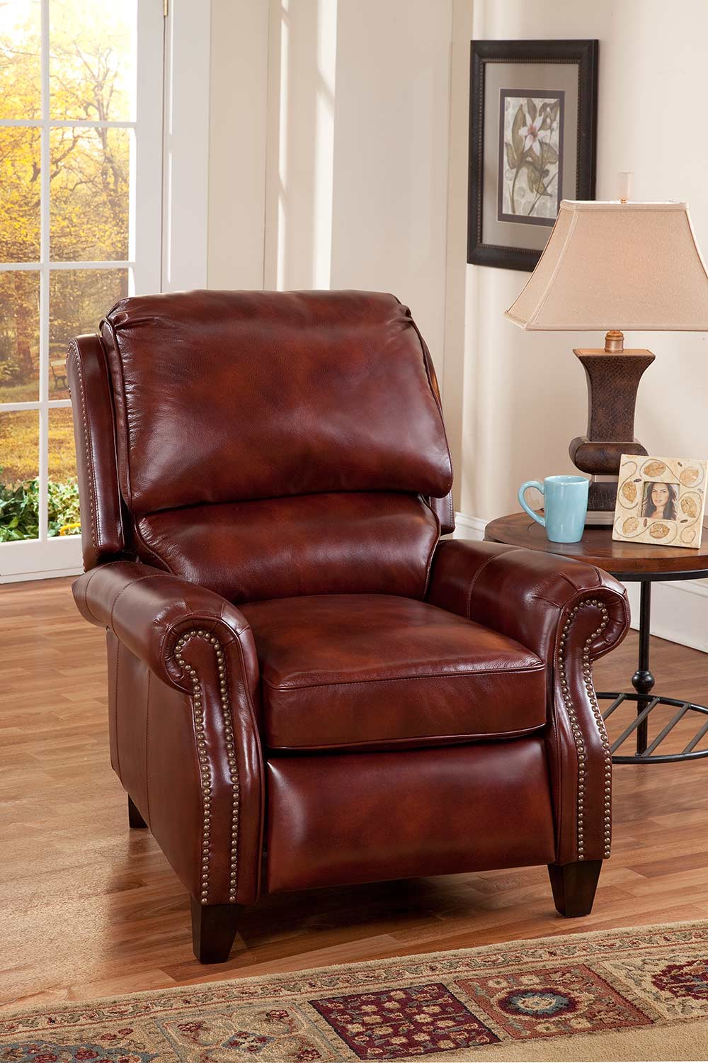 Barcalounger Churchill Power Recliner Chair - Art Burl/All Leather
