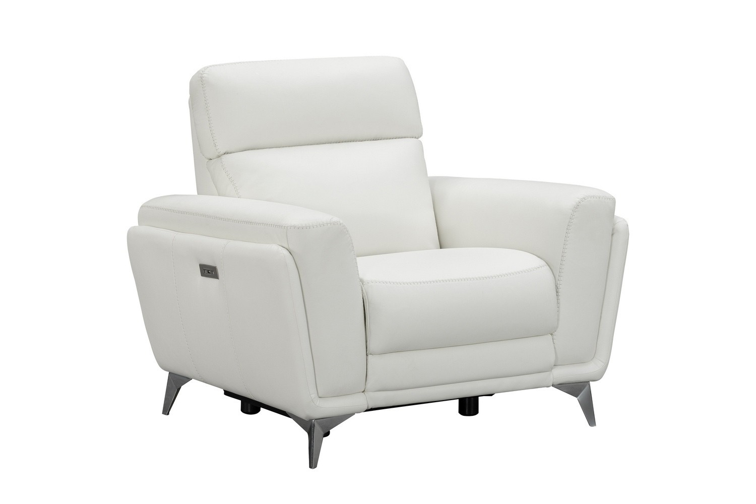 Barcalounger Cameron Power Recliner Chair with Power Head Rest - Enzo Winter White/Leather Match