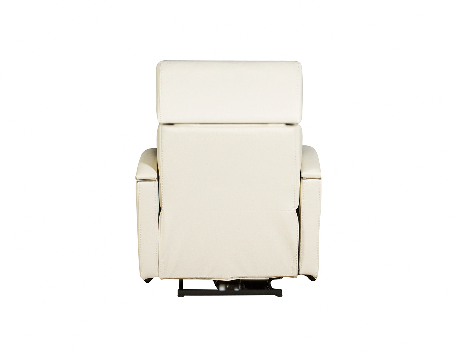 Barcalounger Cosmo Power Recliner Chair with Power Head Rest - Cashmere White/Leather Match