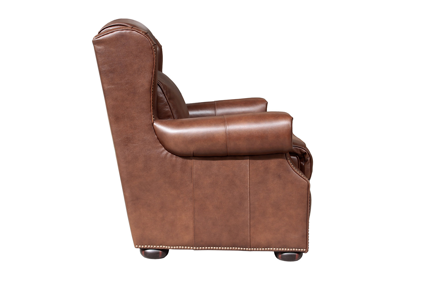 Barcalounger Benwick Power Recliner Chair with Power Head Rest - Shoreham Chocolate/All Leather