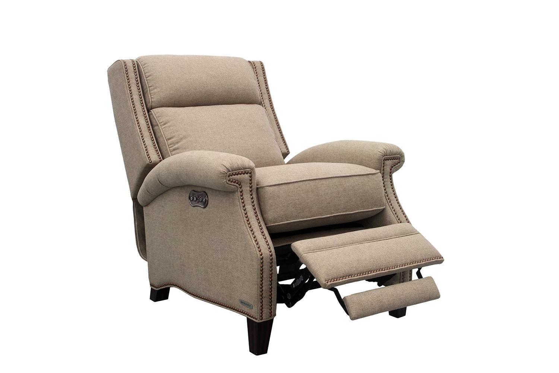 Barcalounger Barrett Power Recliner Chair with Power Headrest - Sisal/fabric