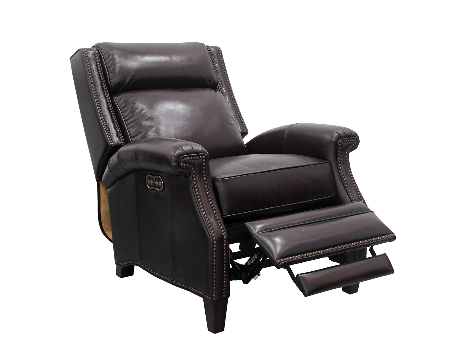 Barcalounger Barrett Power Recliner Chair with Power Headrest - Stetson Coffee/All Leather
