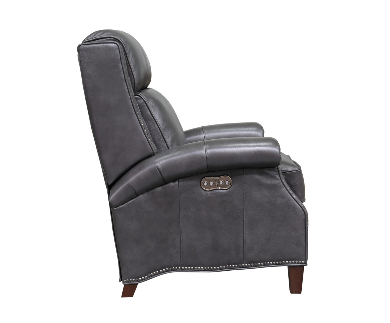 Barcalounger Barrett Power Recliner Chair with Power Head Rest - Wrenn Gray/all leather