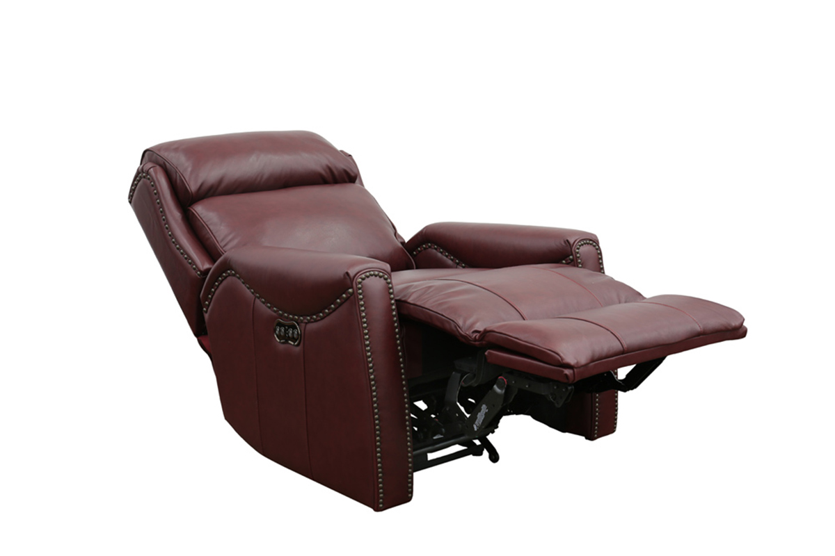 Barcalounger Montana Power Recliner Chair with Power Head Rest - Shoreham Wine/all leather