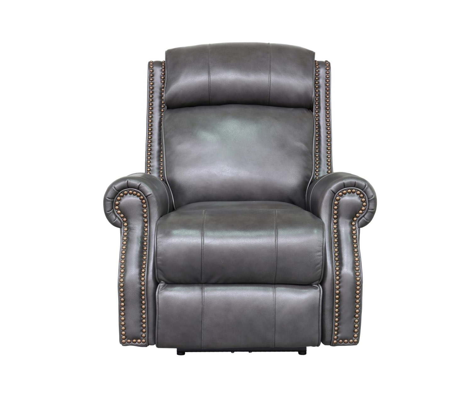 Barcalounger Blair Big and Tall Power Recliner Chair with Power Head Rest - Wrenn Gray/all leather