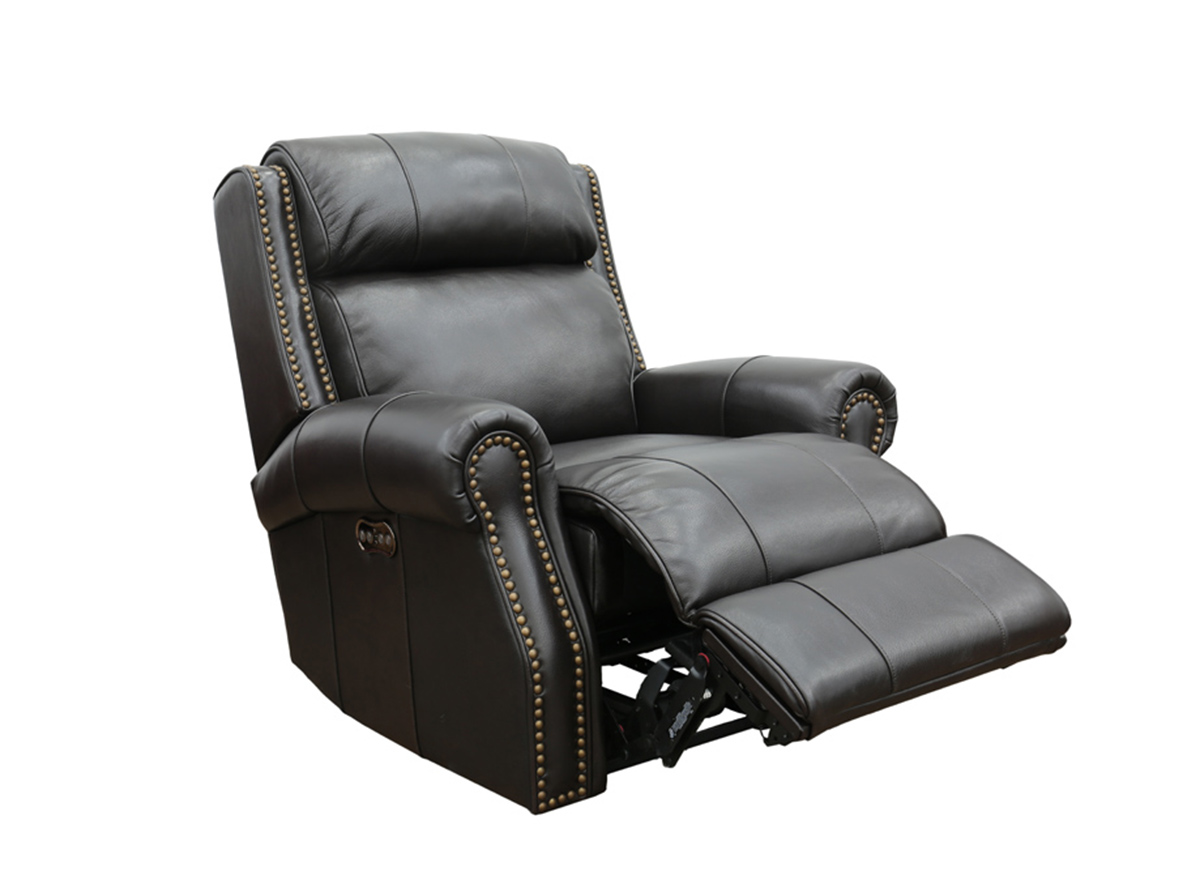 Barcalounger Blair Big and Tall Power Recliner Chair with Power Head Rest - Shoreham Fudge/all leather