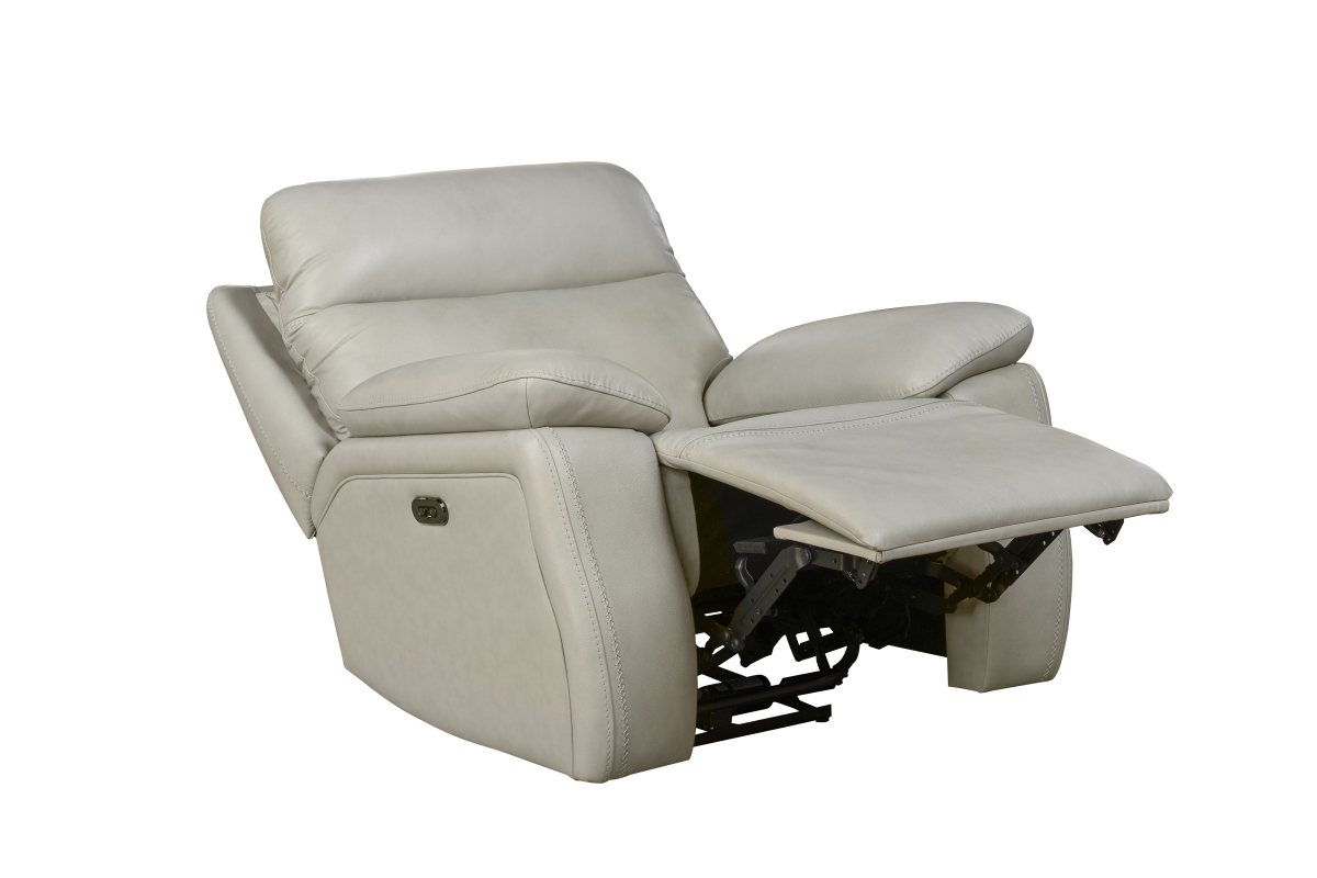 Barcalounger Micah Power Recliner Chair with Power Head Rest - Venzia Cream/Leather Match