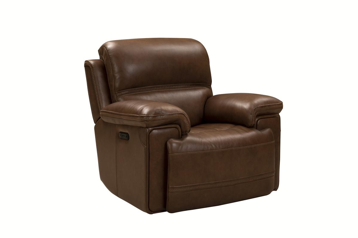 Barcalounger Sedrick Power Recliner Chair with Power Head Rest - Spence Caramel/Leather Match