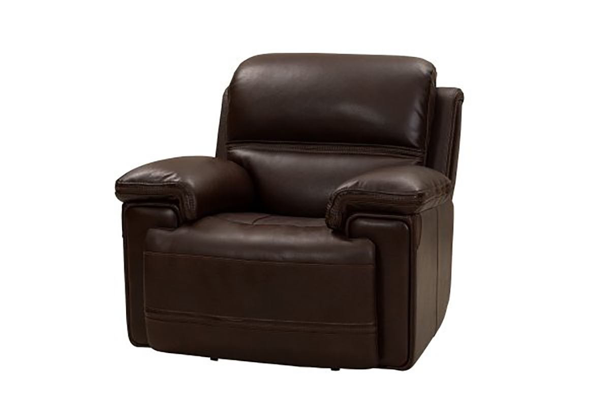 Barcalounger Sedrick Power Recliner Chair with Power Head Rest - El Paso Walnut/Leather Match