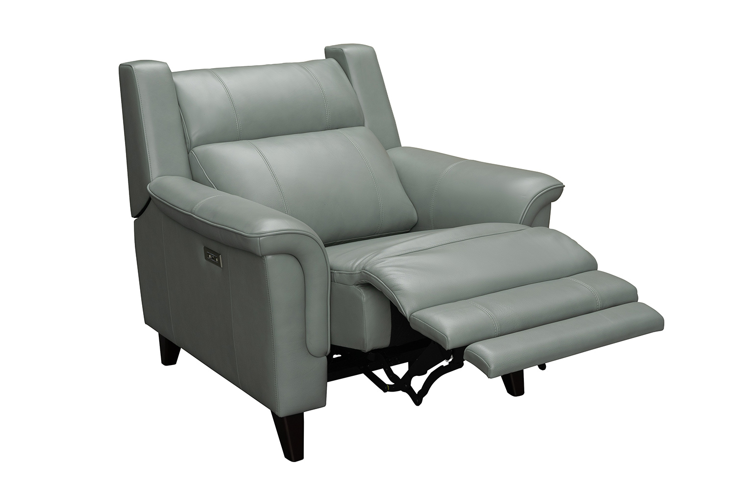 Barcalounger Kester Power Recliner Chair with Power Head Rest - Lorenzo Mint/Leather match