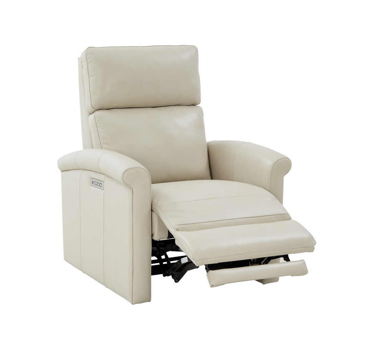 Barcalounger Jaxon Zero Gravity Power Recliner Chair with Power Head Rest and Lumbar - Barone Parchment/All Leather