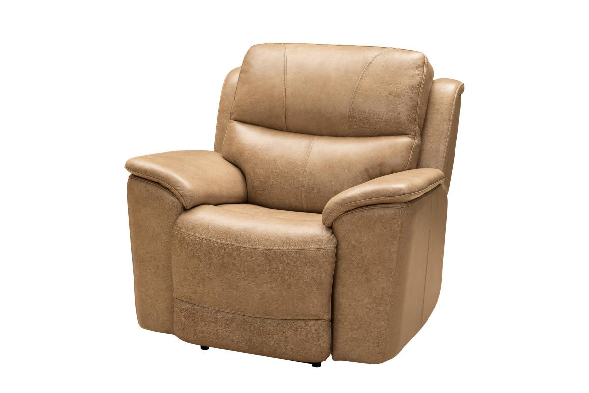 Barcalounger Kaden Power Recliner Chair with Power Head Rest and Lumbar - Elliott Taupe/Leather Match