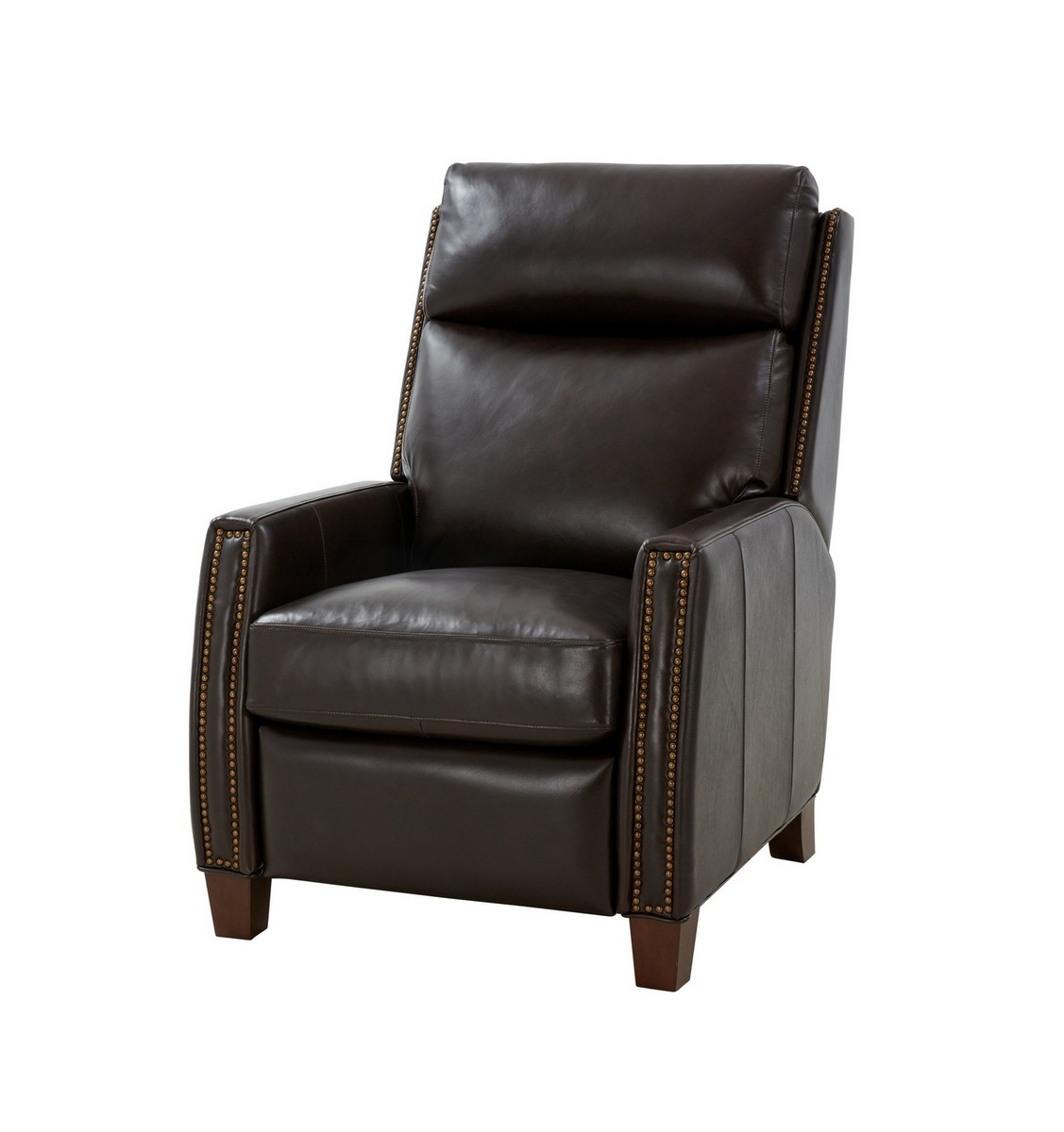 Barcalounger Anaheim Big and Tall Power Recliner Chair with Power Head Rest and Lumbar - Bennington Fudge/All Leather