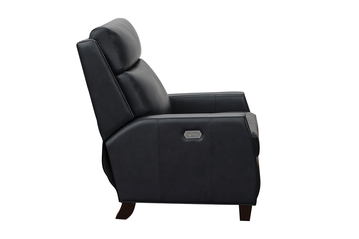 Barcalounger Anaheim Big and Tall Power Recliner Chair with Power Head Rest and Lumbar - Shoreham Blue/All Leather