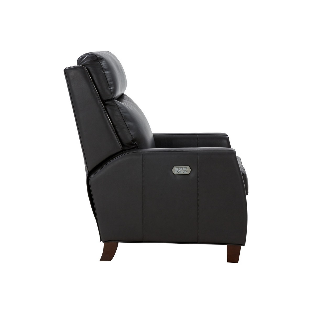 Barcalounger Anaheim Big and Tall Power Recliner Chair with Power Head Rest and Lumbar - Shoreham Gray/All Leather
