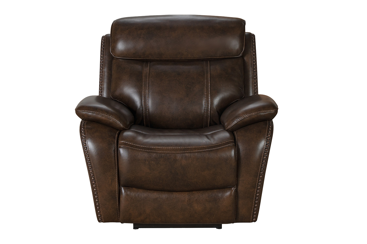Barcalounger Sandover Power Recliner Chair with Power Head Rest and Lumbar - Tri-Tone Chocolate/Leather match