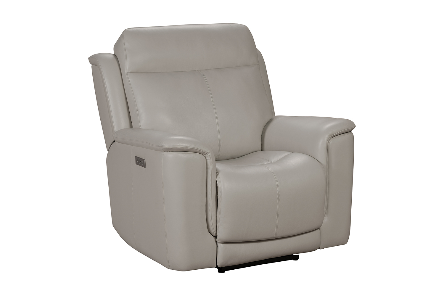 Barcalounger Burbank Power Recliner Chair with Power Head Rest and Lumbar - Laurel Cream/Leather match