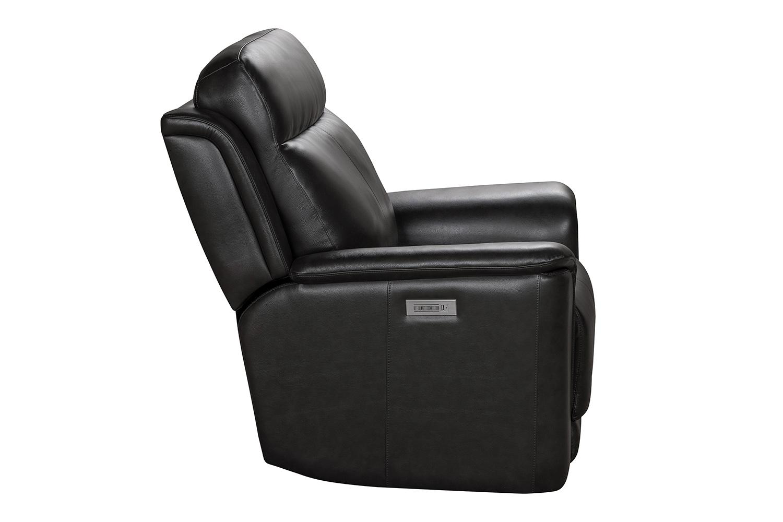 Barcalounger Burbank Power Recliner Chair with Power Head Rest and Lumbar - Matteo Smokey Gray/Leather match
