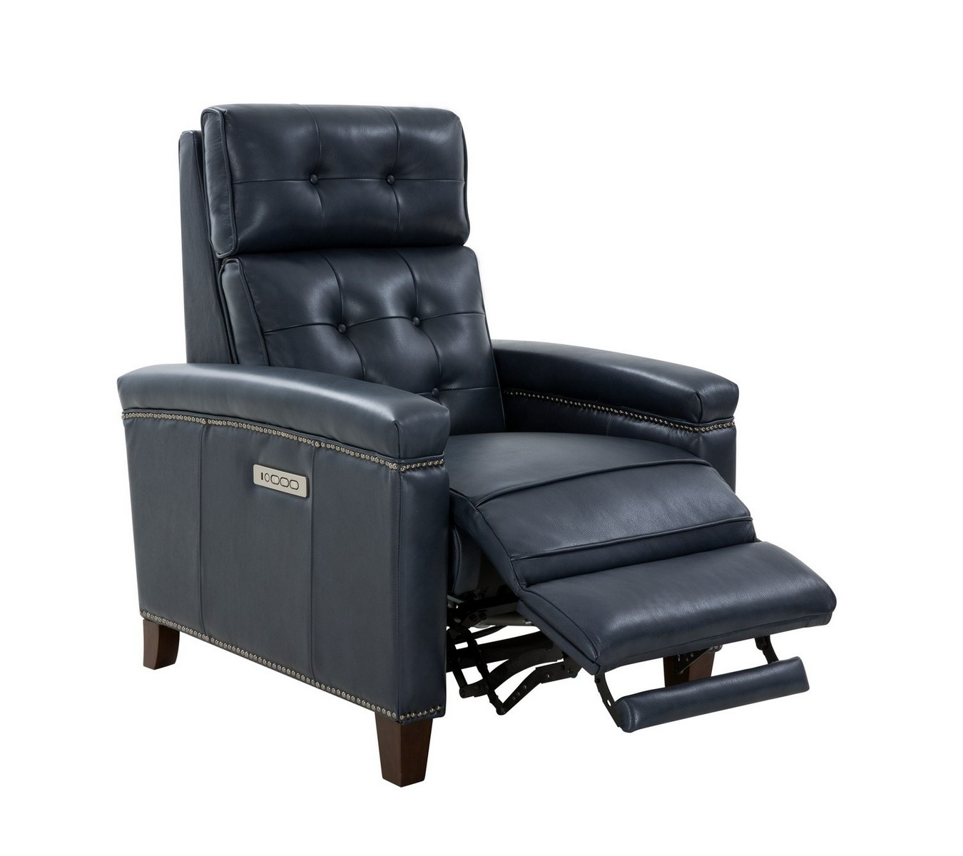 Barcalounger Jamey Zero Gravity Power Recliner Chair with Power Head Rest and Lumbar - Barone Navy Blue/All Leather