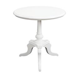 Photo of Traditional Accents White Chapel Table (Accent Furniture, Accent Tables)
