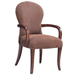 Traditional Accents Ebony Arm Chair Raspberry
