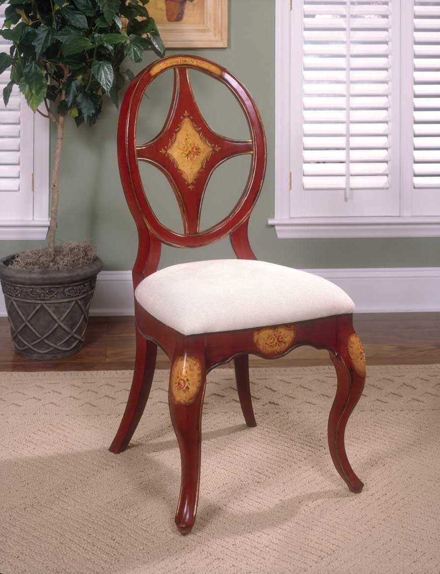 Butler Red Hand Painted Chair