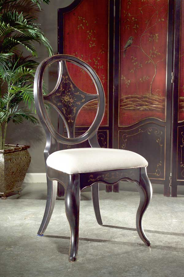 Butler Regal Black Hand Painted Chair