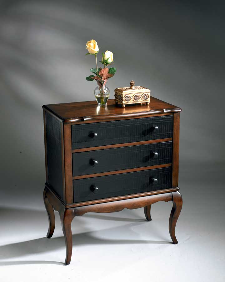 Butler Texured Black and Cherry Chest