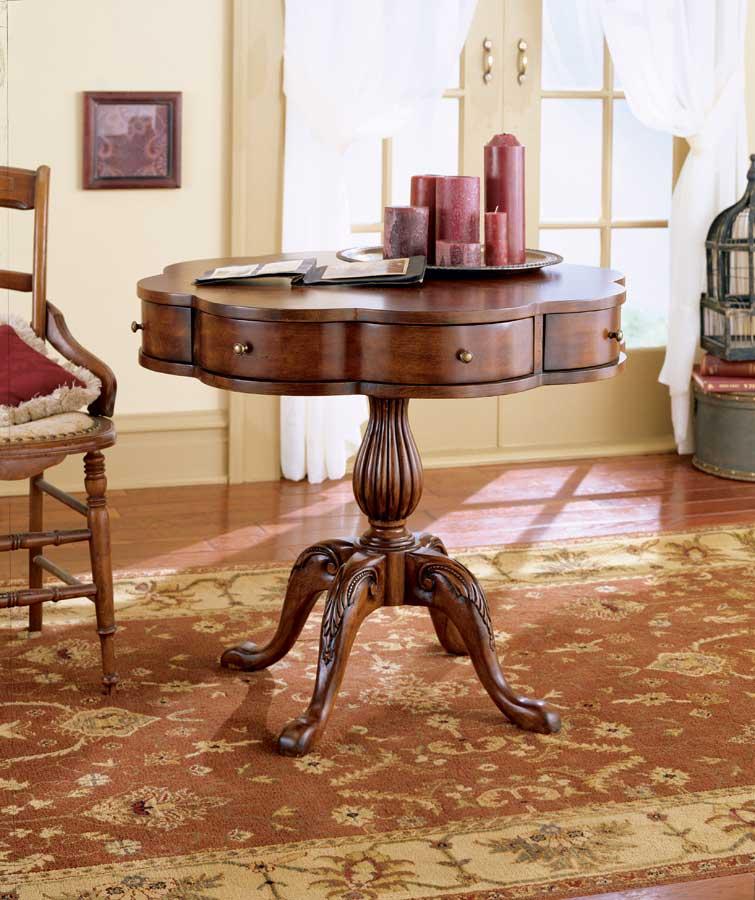 Cheap Butler Plantation Cherry Clover Pedestal Table