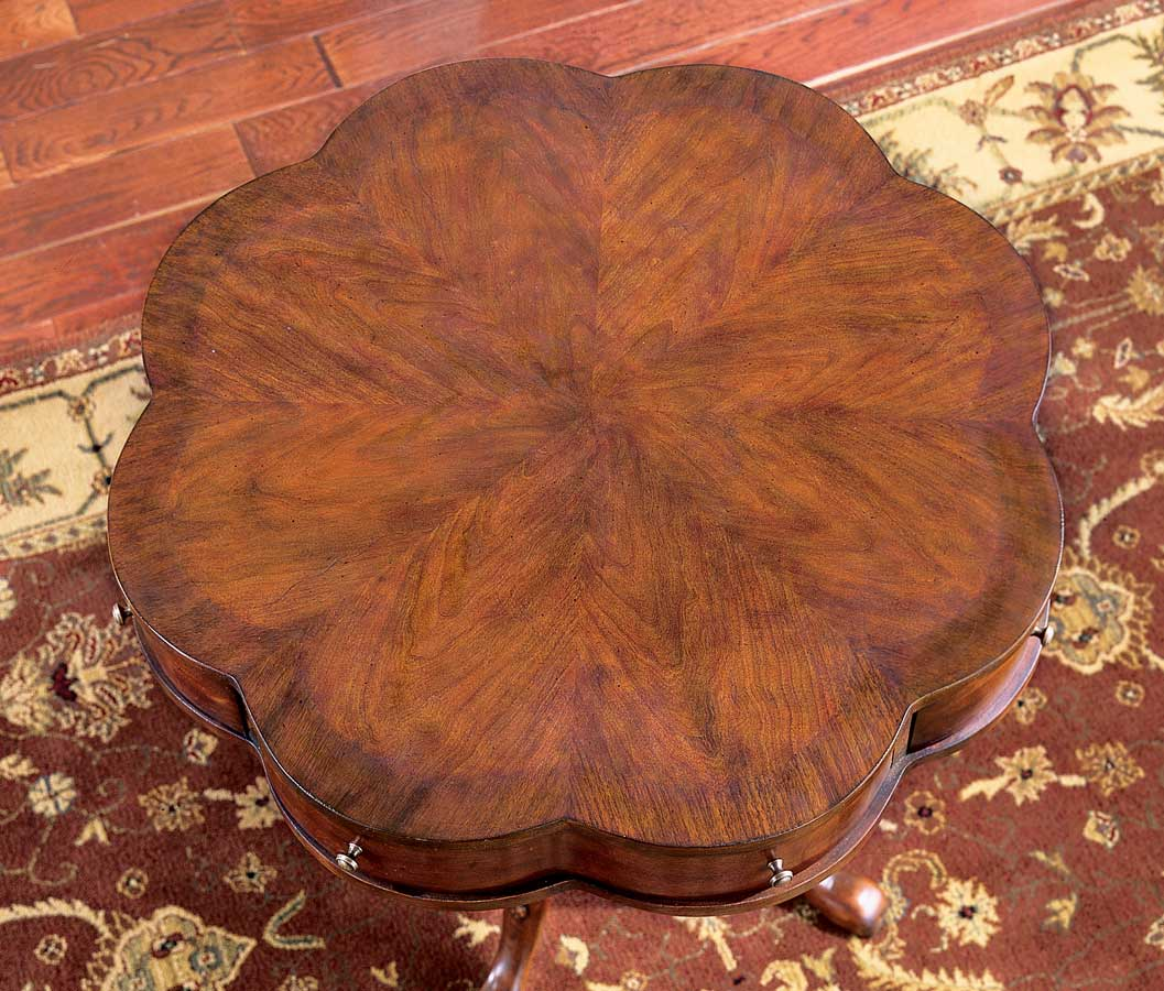 0401024 Plantation Cherry Clover Pedestal Table - Butler