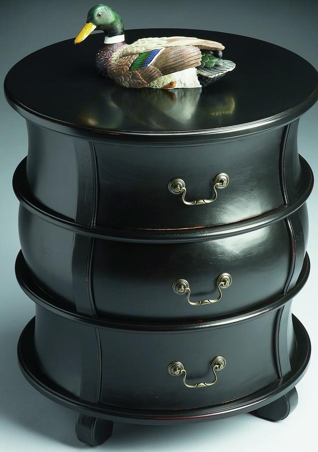 Cheap Butler 523111 Black Licorice Barrel Table