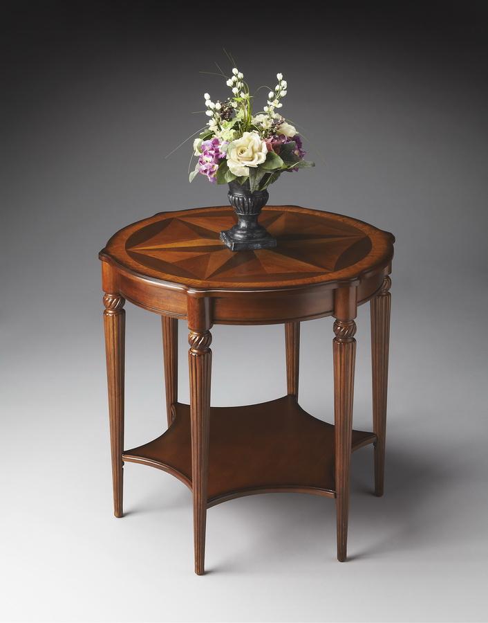 Butler 0557101 Olive Ash Burl Accent Table