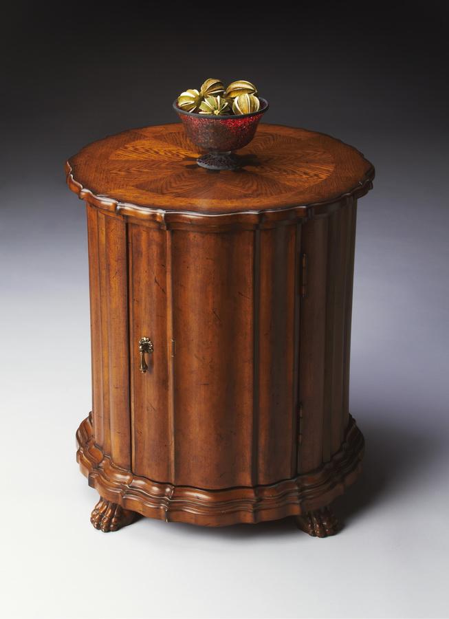 Butler 0571001 Vintage Oak Drum Table