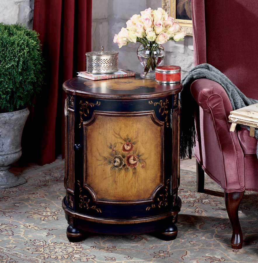 Cheap Butler Coffee Hand Painted Drum Table