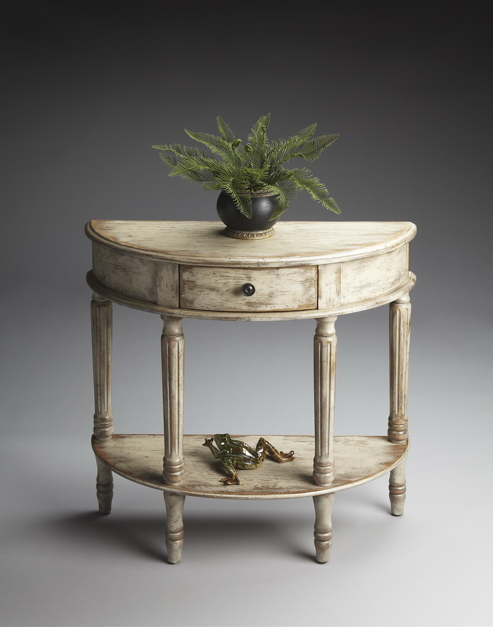 Butler 0667230 Chateau Gray Demilune Console Table