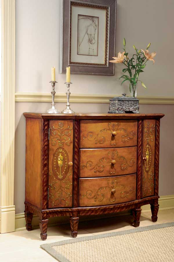 Butler Royal Hand Painted Console Cabinet
