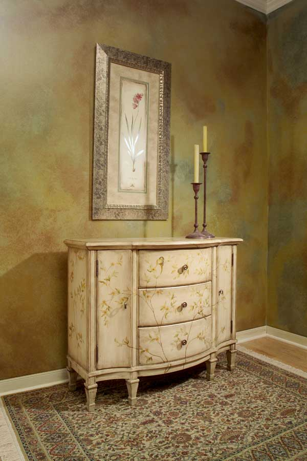 Butler Springtime Hand Painted Console Cabinet