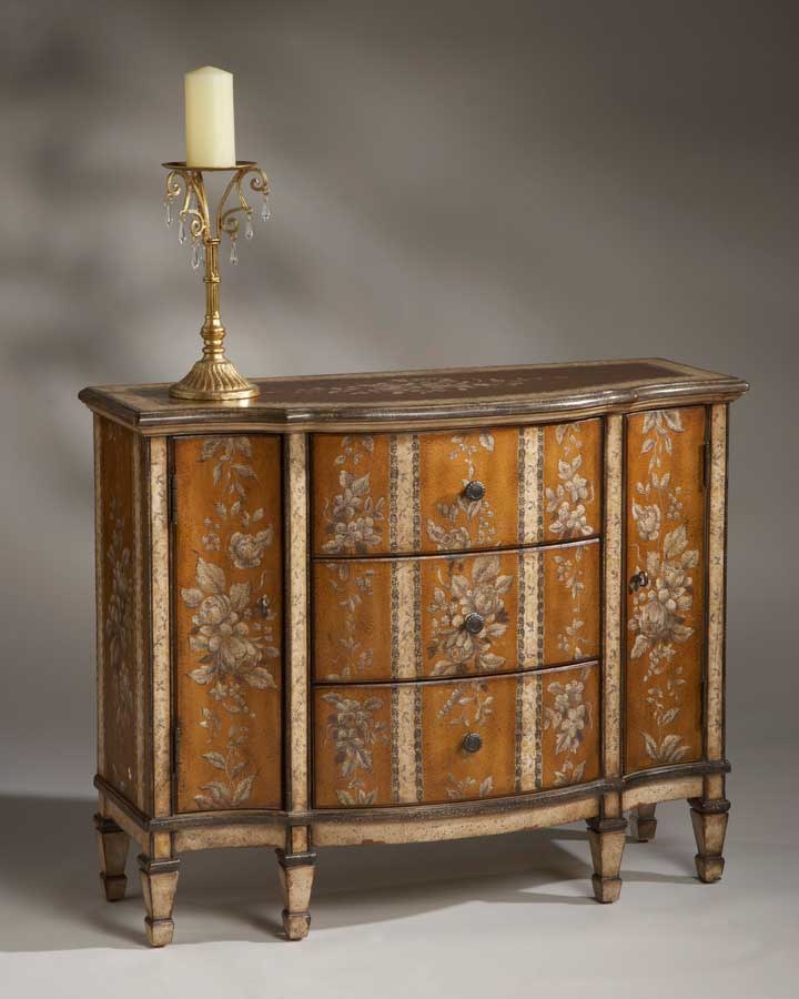 Butler Victorian Stripe Console Cabinet