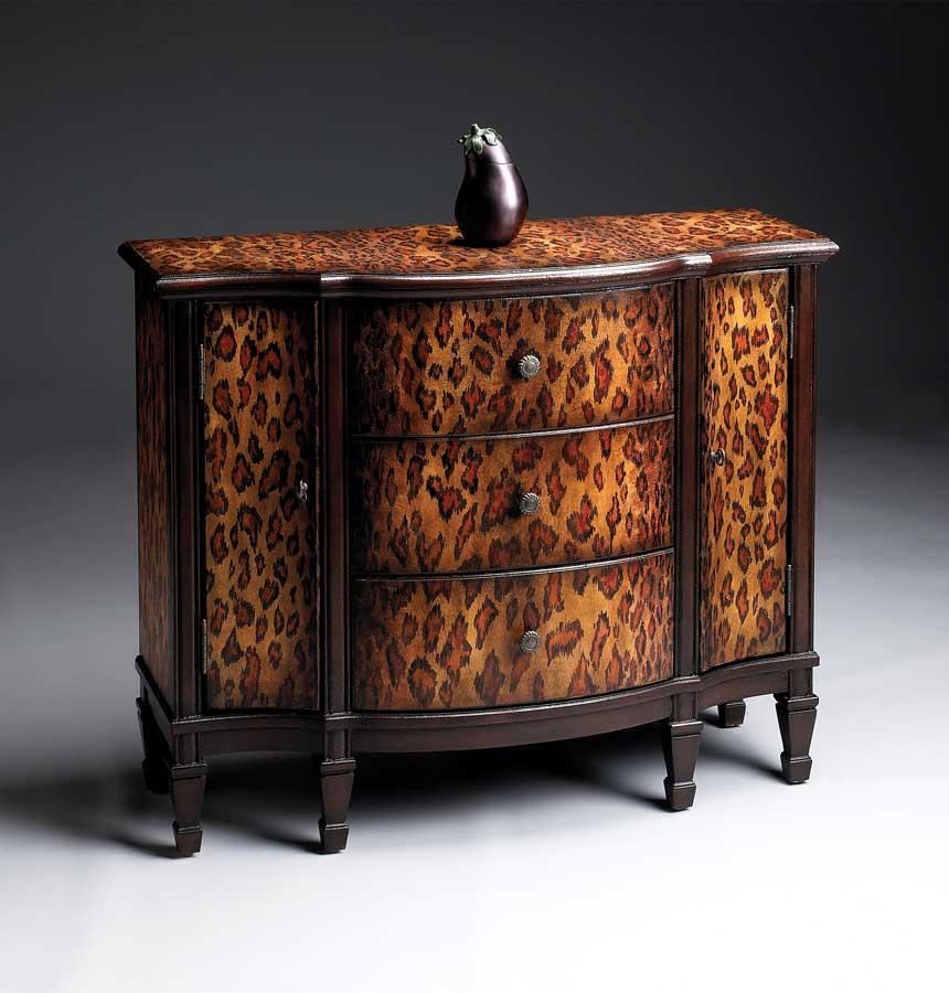 Butler Leopard Spots Console Cabinet