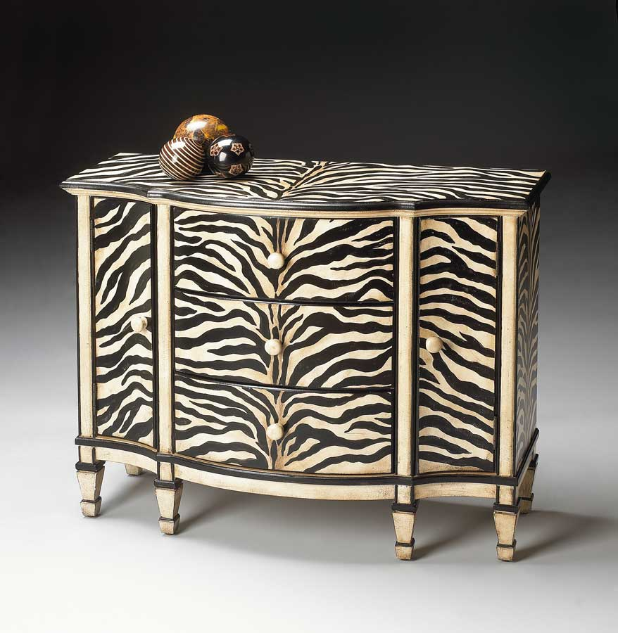 Butler Zebra Stripe Console Cabinet