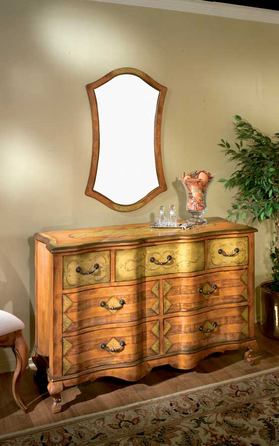 Butler Tuscan Orange Hand Painted Dresser