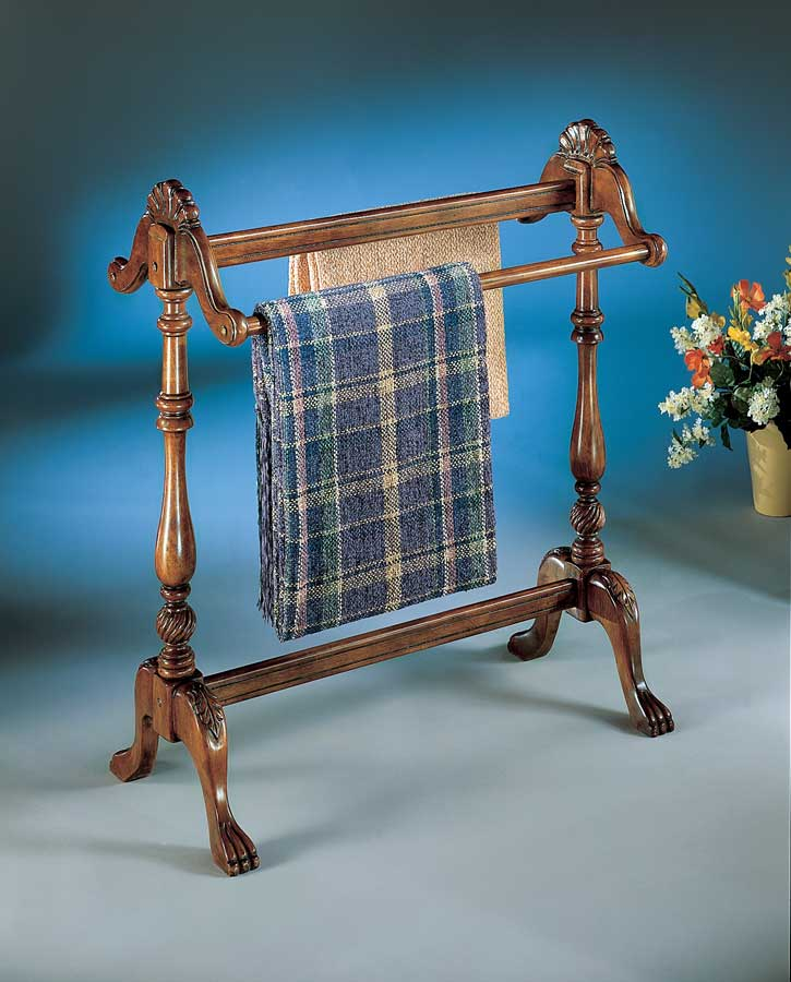 Butler Plantation Cherry Blanket Stand