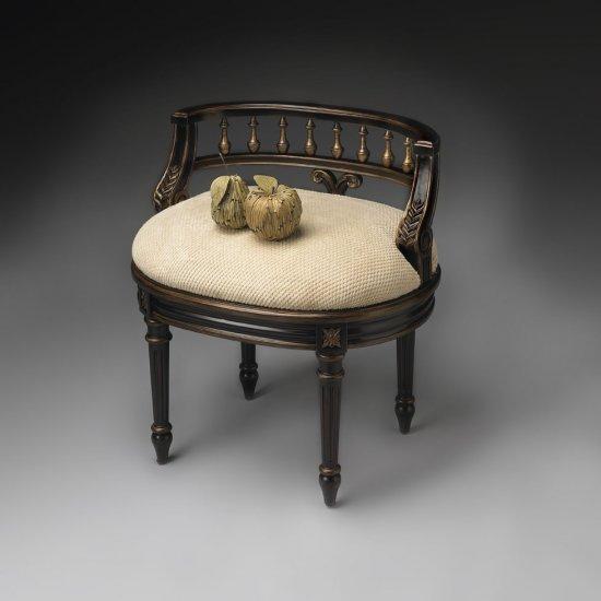 Butler 1218104 Cafe Noir Vanity Seat